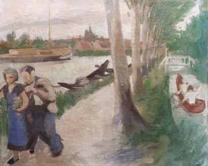 Jean-Gaston MANTEL (1914-1995) Sur le chemin...