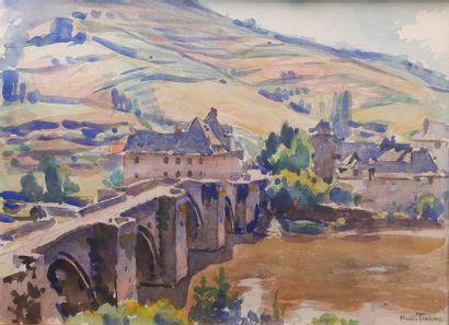 Henri PAILLER (1876-1954) Vue sur le vieux...