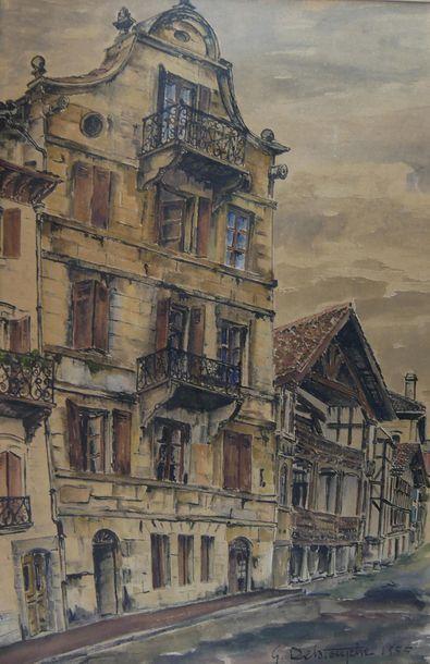 Germain DELATOUSCHE (1898-1966) Maisons et...