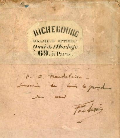 Ambroise RICHEBOURG (Paris 1810-1875) Jeune homme assis Daguerréotype demi-plaque...