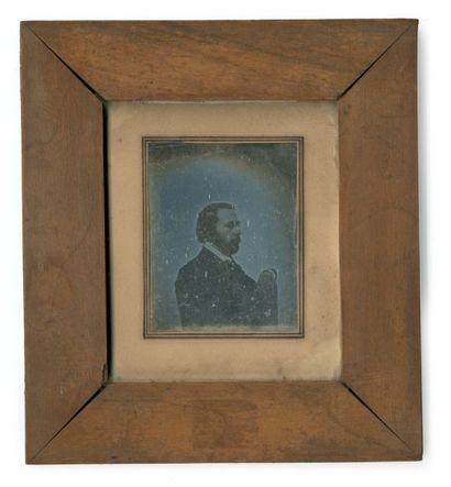 Jules CHEVRIER (Chalon-sur-Saône 1816-Farges 1883) Autoportrait présumé, Rome Daguerréotype...