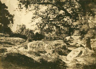 Gustave LE GRAY (Villiers-le-Bel 1820-Le Caire 1884) Vue prise sur la route du Mont...