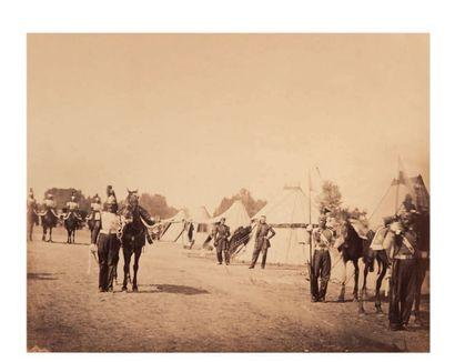 Gustave LE GRAY (Villiers-le-Bel 1820-Le Caire 1884) Lanciers de la Garde. Colonel...
