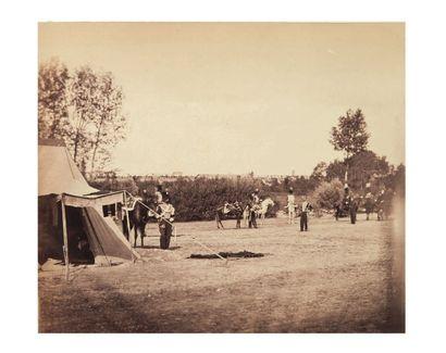 Gustave LE GRAY (Villiers-le-Bel 1820-Le Caire 1884) Chasseurs de la Garde. Guides...