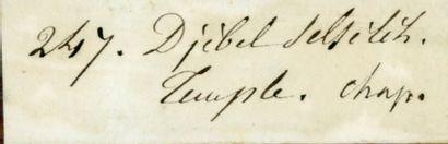 Joseph-Philibert GIRAULT de PRANGEY (Langres 1804-Courcelles- Val-d'Esmons 1892)...