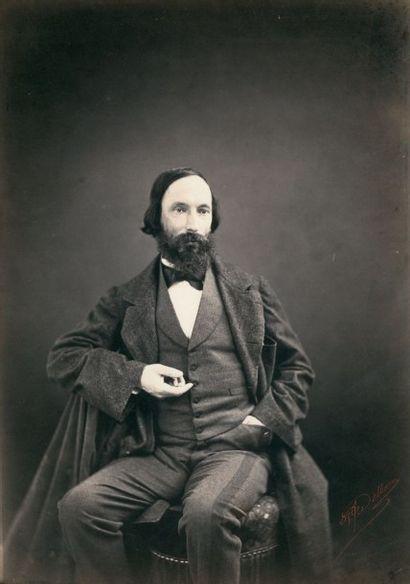 P. J. DELBARRE Auguste Vacquerie Vers 1860