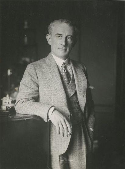 Maurice RAVEL Portrait d'un compositeur Français Photographie de Maurice RAVEL. Tirage...