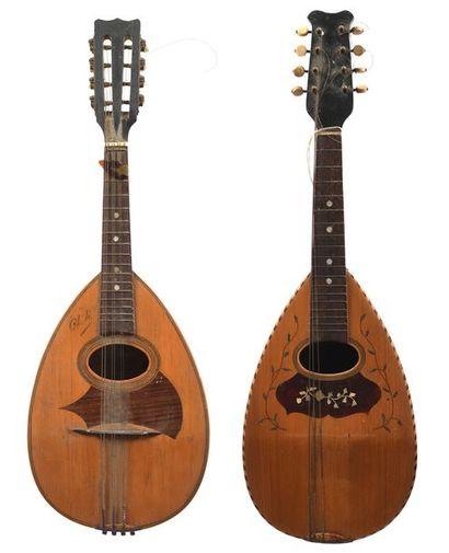 Lot de deux mandolines