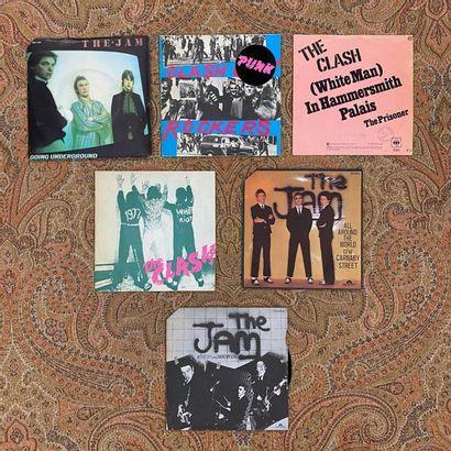 PUNK 6 disques 45 T - The Clash/The Jam  VG+ à EX; VG+ à EX