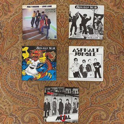 PUNK 5 disques 45 T - Punk Rock français  VG+ à EX; VG+ à EX