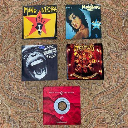ROCK 5 disques 45 T (dont promo) - Mano Negra  VG+ à EX; VG à EX