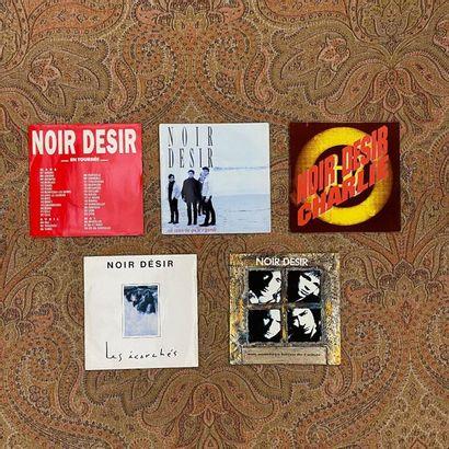 ROCK 5 disques 45 T (dont promo) - Noir Désir  VG+ à EX; VG+ à EX
