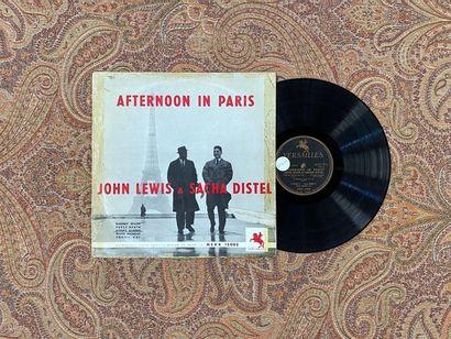 "JAZZ 1 disque 25 cm - John Lewis et Sacha Distel ""Afternoon in Paris""  Versailles..."