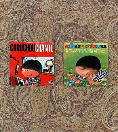 2 disques Ep - Chouchou chante  VG+, VG+