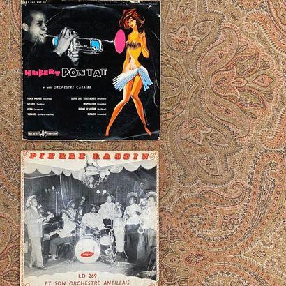JAZZ 2 disques 25 cm - Jazz antillais/Caraïbes  G à VG (scotch, déchirures, écritures);...