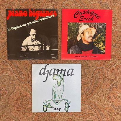 JAZZ 3 disques 33T - Jazz/Biguine/Zouk  VG+ à EX; VG+ à EX