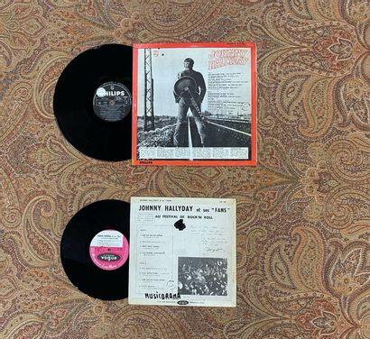 FRANCAIS 2 disques (1 x 33 T et 1 x 25 cm) - Johnny Hallyday  VG; VG