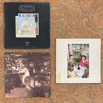 POP ROCK 3 disques 33T - Let Zeppelin  VG à EX (déchirure sur l'une des pochette)...