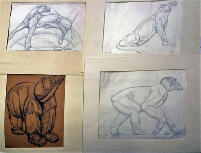 Georges MEDEE (1906-1986) - Peintre et sculpteur Lot...