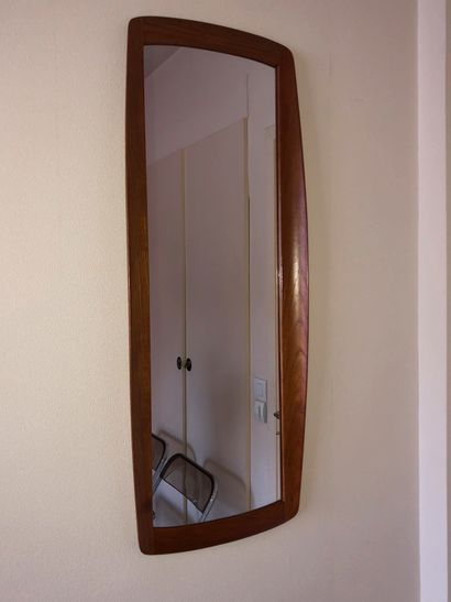 Miroir, encadrement en bois Circa 1960 92...