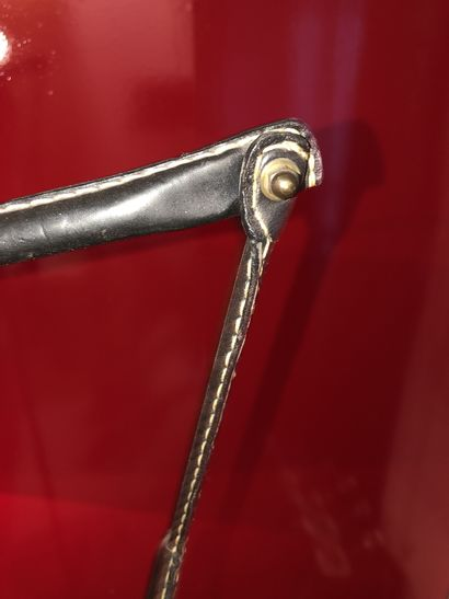Jacques ADNET (1900-1984) Lampadaire en métal tubulaire à tige centrale et bras...
