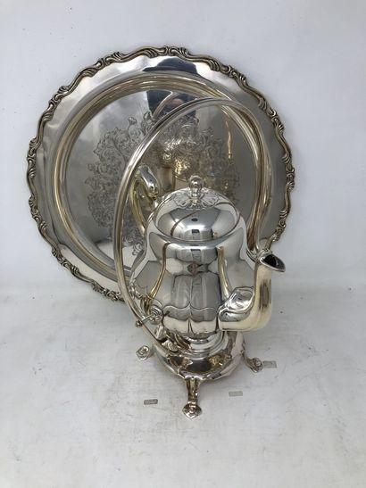 Samovar en métal argenté, Maison Christofle....