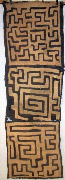 Patchwork Kuba, Congo, assemblage de fibres...
