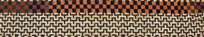 Pagne Kuba, Congo, patchwork de tissage de...