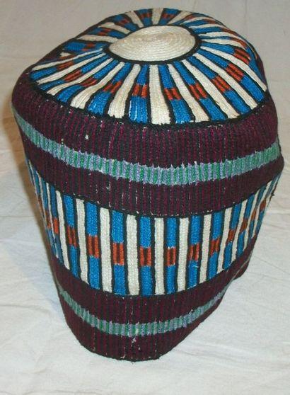 Chapeau Haoussa, Nigéria, maille de coton,...