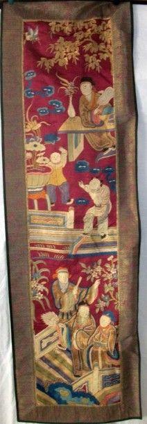 Bandeau, Chine, dynastie Qing, XIXème siècle,...