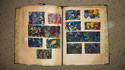 Album d'échantillons, circa 1928, façonné...