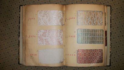 Album d'échantillons, circa 1922, façonné...