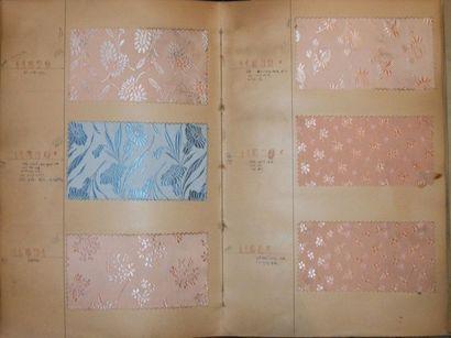 Album d'échantillons, circa 1936, façonné...