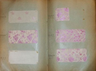 Album d'échantillons, circa 1912, façonné...
