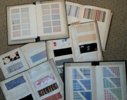 Réunion de six albums d'échantillons, imprimé,...