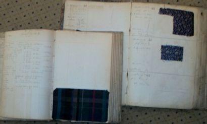Réunion de deux albums d'échantillons, Dispositions,...