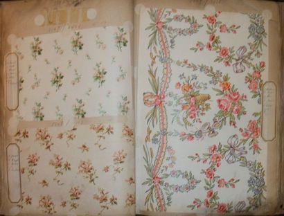 Album d'empreintes, fin XIXème siècle, fleurs,...