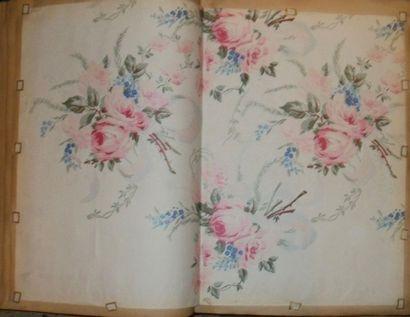 Album d'empreintes, 1894, fleurs, abstraits,...