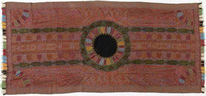 Châle long ou moon shawl, Inde, milieu XIXème...