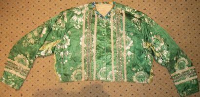 Caraco, milieu XIXème siècle, sergé vert...