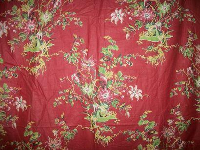 Rideau en coton imprimé, Alsace, milieu XIXème...