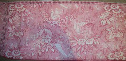 Lambrequin en coton imprimé, milieu XIXème...