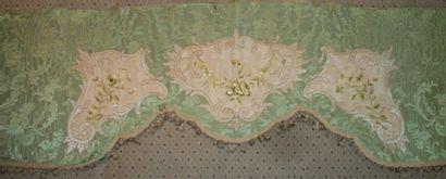 Lambrequin crénelé, circa 1900, style Régence,...