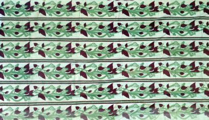 Paire de rideaux en percale par Jules Leleu...