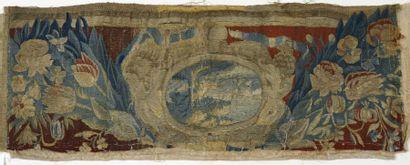 Bandeau en tapisserie, laine et soie, Flandre,...