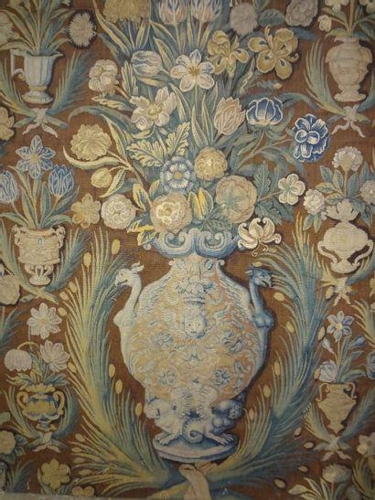 Panneau en tapisserie, laine et soie, Flandre,...