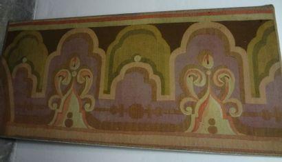 Bordure en tapisserie, Aubusson, époque Napoléon...
