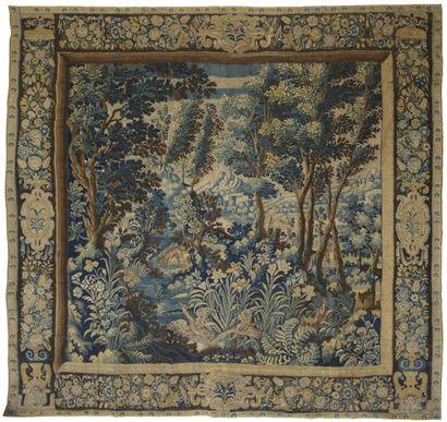 Tapisserie laine et soie, Flandre, XVIIème...