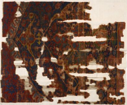 Fragment de tapis Ouchak, XVIème siècle,...
