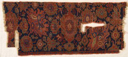 Fragment de tapis Anatolie, fin XVIème siècle,...